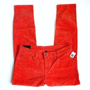 GAP Premium Skinny Red Corduroy Pants